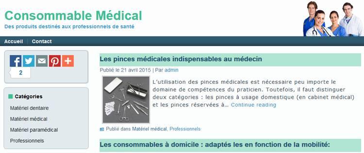 actualités consommable médical