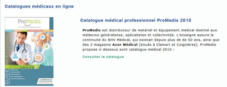 catalogue médical sur internet